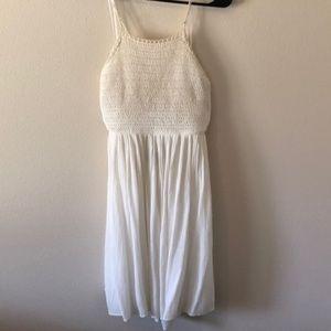 Lulus High Neck Crochet Dress